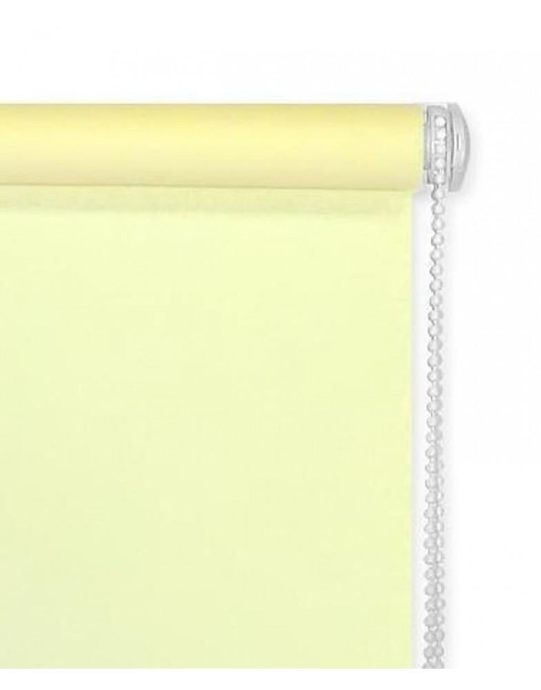 Миниролло для окна светлый лимон
