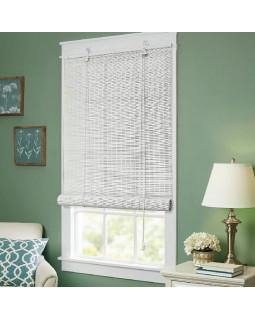 Бамбуковые рулонные шторы, Белые