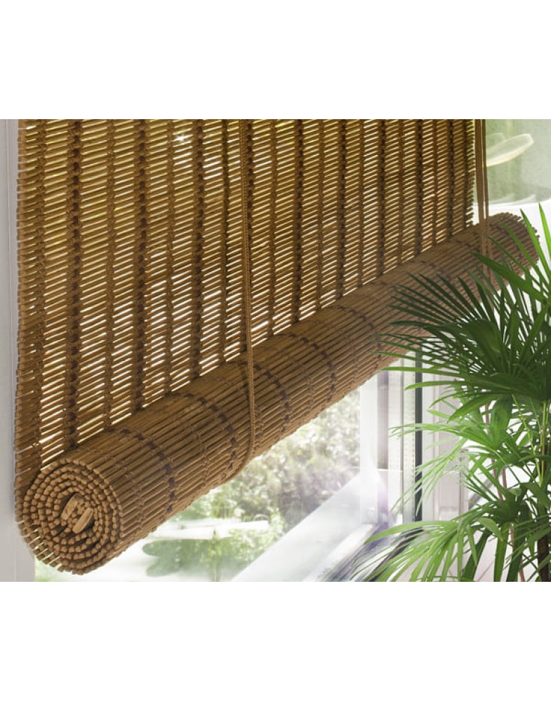 Рулонные бамбуковые шторы Медь