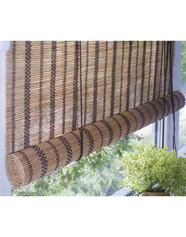 Рулонные бамбуковые шторы Охра