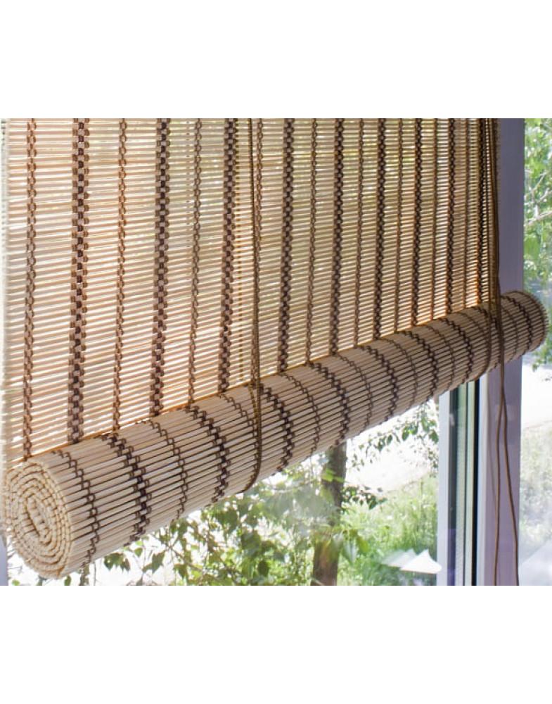 Рулонные бамбуковые шторы Песок