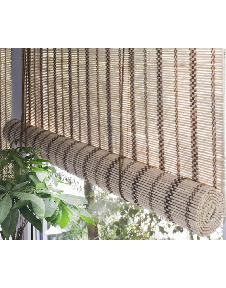 Рулонные бамбуковые шторы Золотой беж