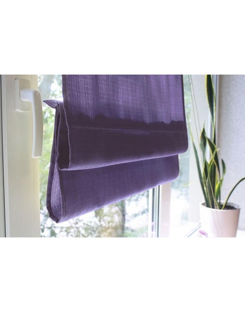 Римские шторы из ткани, Фиолетовый