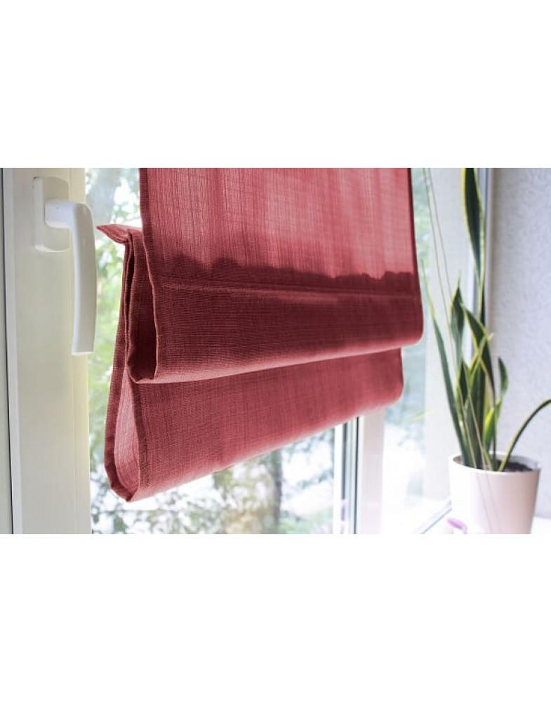 Римские шторы из ткани, Красный