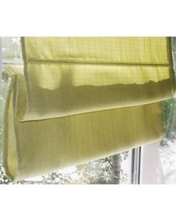 Римские шторы из ткани, Салатовый