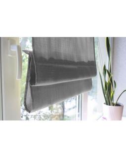 Римские шторы из ткани, Серый