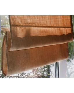 Римские шторы из ткани, Терракотовый