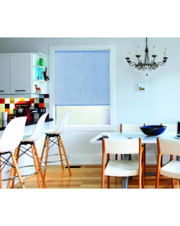 Миниролло для окна 115х170 см Kauffort-3115005 Голубой