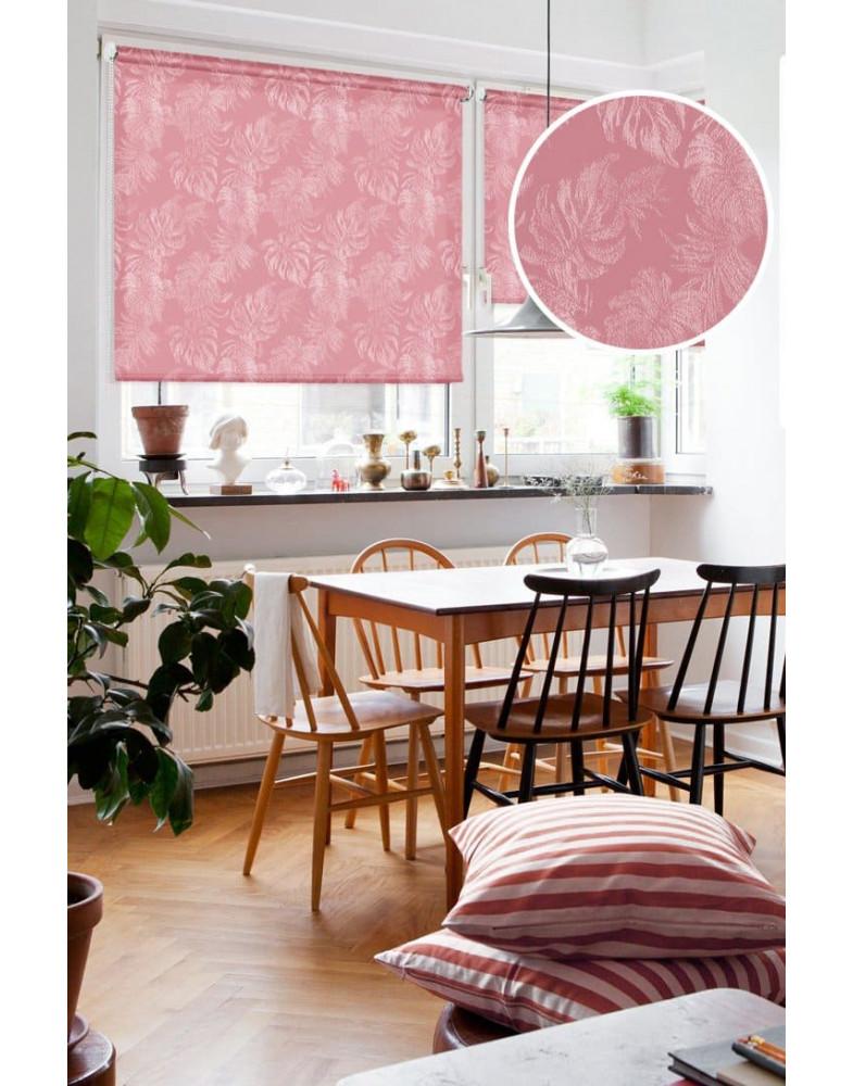 Рулонные шторы ДЖУНГЛИ малиновый на окна