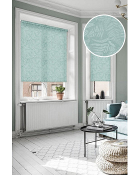 Рулонные шторы ФОРЕСТ голубой на окна