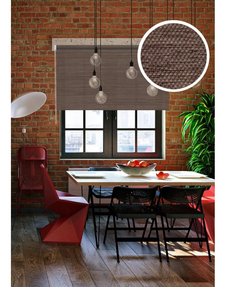 Рулонные шторы LOFT коричневый на окна