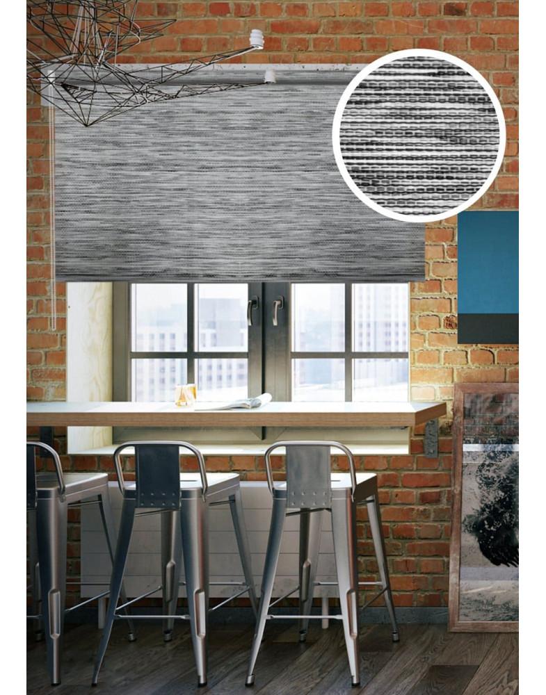 Рулонные шторы LOFT серый на окна
