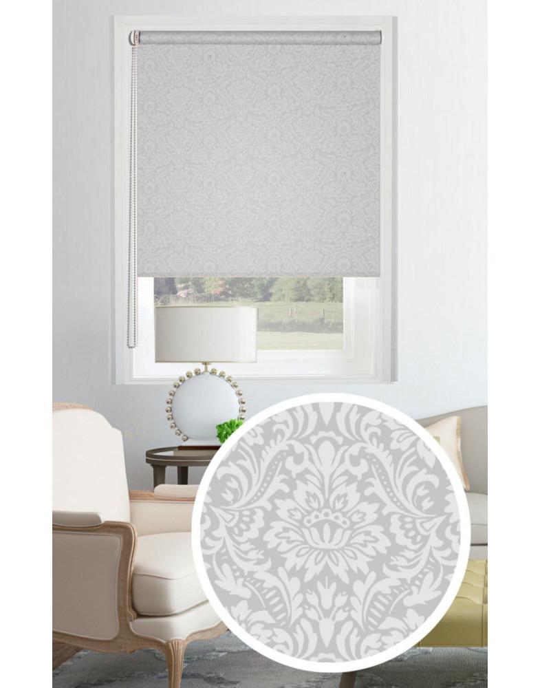 Рулонные шторы ИМАНИ серый на окна