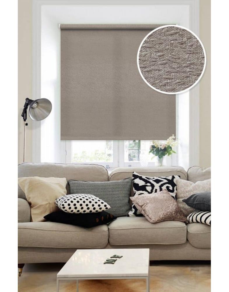 Рулонные шторы МОРЗЕ коричневый на окна