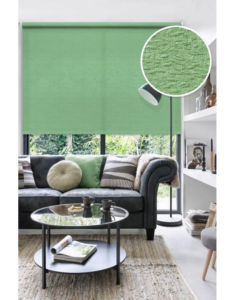 Рулонные шторы МОРЗЕ зеленый на окна
