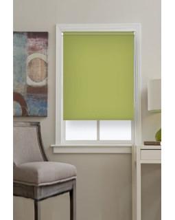Рулонные шторы БЛЭКАУТ оливковый на окна
