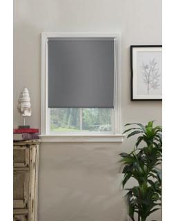 Рулонные шторы БЛЭКАУТ серый на окна
