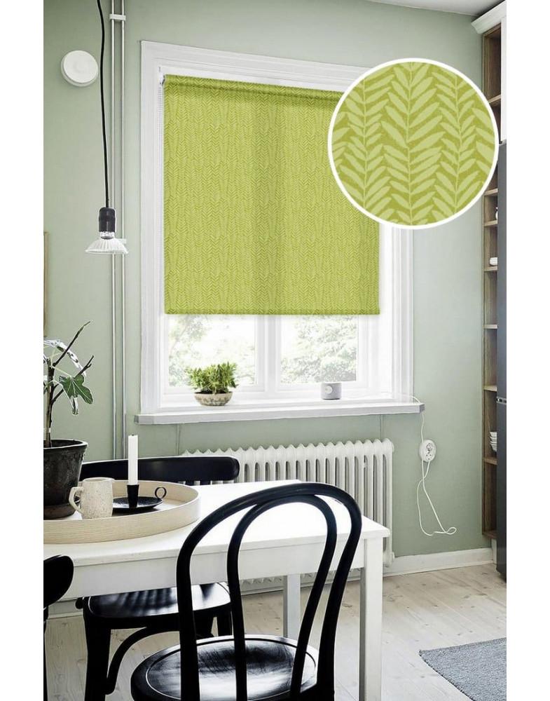 Рулонные шторы СКЕЛЕТОН оливковый на окна