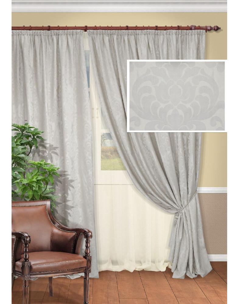 Комплект серых штор для гостиной Acvitany-S 230x273