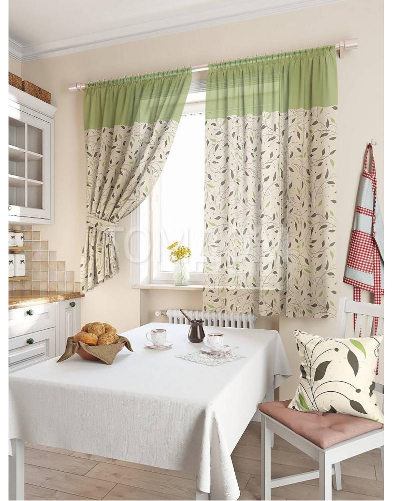 Комплект штор для кухни «Витес (зелен.)»