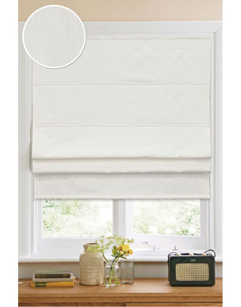 Римские тканевые шторы Ammi Kauffort-12008060160 Белый (кордовый механизм)
