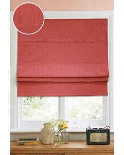 Римские шторы Ammi Красный (ткань, кордовый механизм)