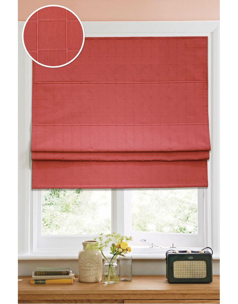 Римские тканевые шторы Ammi 60х160 см Kauffort-12001060160 Красный (кордовый механизм)