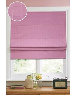 Римские тканевые шторы Ammi Розовый (ткань, кордовый механизм)