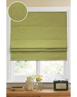 Римские тканевые шторы Ammi Зеленый (ткань, кордовый механизм)