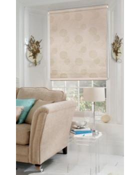 Рулонные шторы Миниролло Люкс для окна кофейная