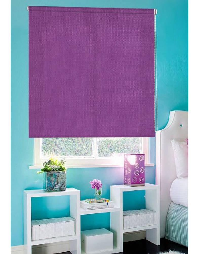 Рулонные шторы Миниролло Люкс для окна Рояль фиолетовый