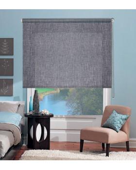 Рулонные шторы Миниролло Люкс для окна Меланж серый