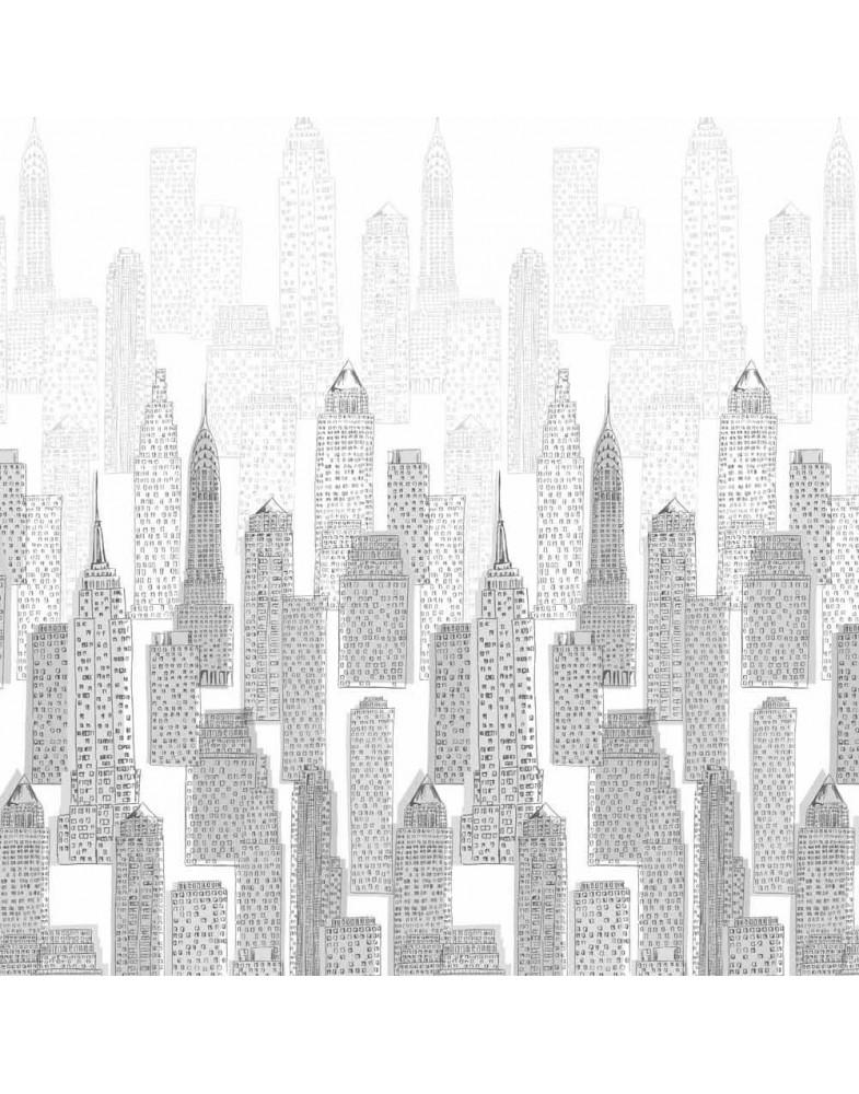 Ткань для рулонных штор НЬЮ-ЙОРК 1852 серый