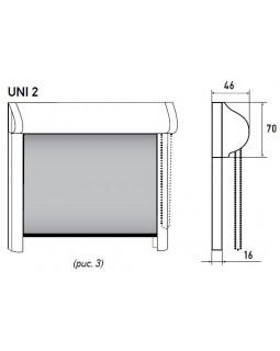 Система UNI 2 для рулонных штор ручная